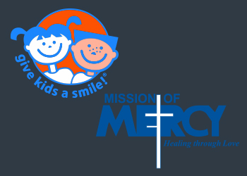 Give Kids a Smile and Mission of Mercy logos