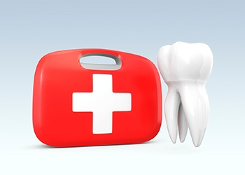 Emergency tooth and bag