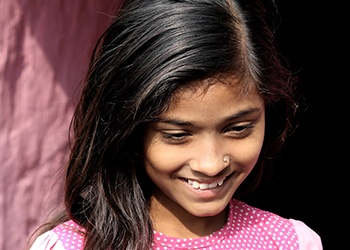 Young girl with healthy beautiful smile